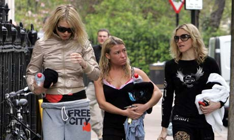 Tracy Anderson with Madonna and Gwyneth Paltrow