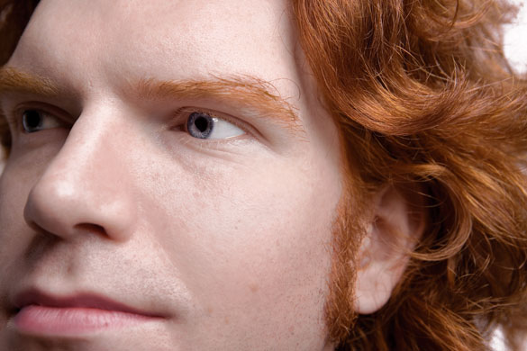 Simply red: Richard Tyrone
