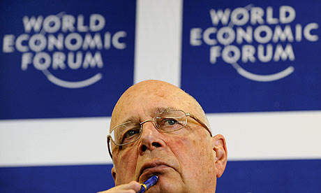 World Economic Forum founder, Klaus Schwab, at a press conference ahead of the Davos meeting