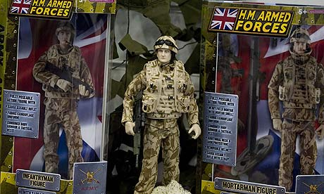 Toys licensed by the Ministry of Defence, at the Toy Fair 2009 in east London