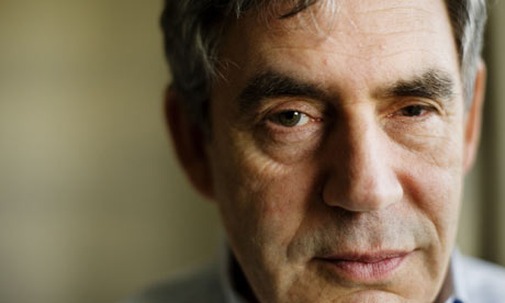 Gordon Brown at his Scottish Home