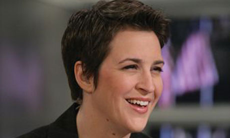 Rachel Maddow reports from the MSNBC newsroom in New York, 3 January 2009. Photograph: Virginia Sherwood/NBC Newswire/AP