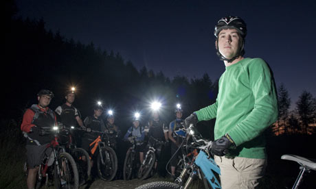 UK - Wales Nighttime Mountain Biking