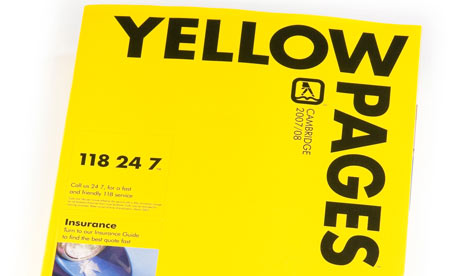 Yellow pages telephone numbers