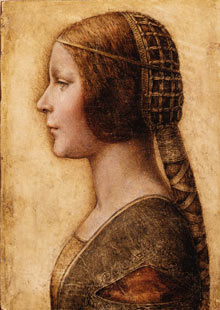 The Head of a young Girl, a painting attributed to Leonardo Da Vinci