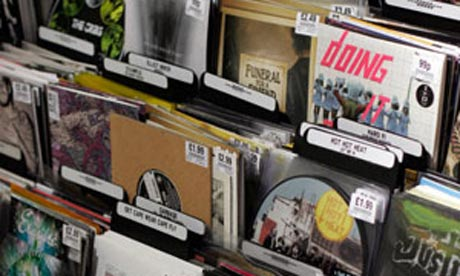 Seven inch singles forsale in HMV in London's Oxford Street