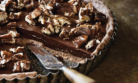 Sea-salted chocolate and pecan tart recipe | Life and style | The ...