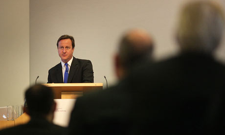 David Cameron addresse Royal Society on low-carbon economy