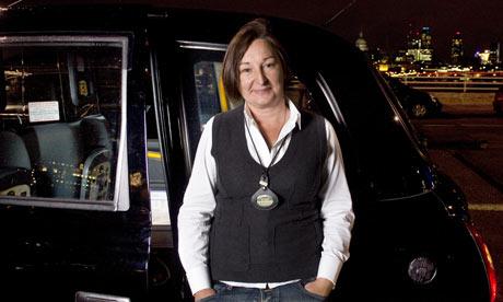 Cab driver Dawn Cooper