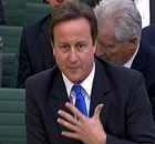 David Cameron gives evidence to the Speaker's conference in Westminster on 20 October 2009.