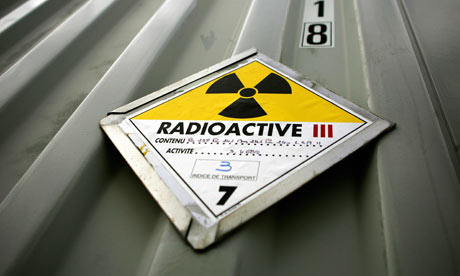 Nuclear waste : a sign indicating perilous nuclear waste. nuclear power plant, France