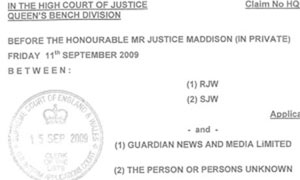 Trafigura super-injunction against Guardian News and Media