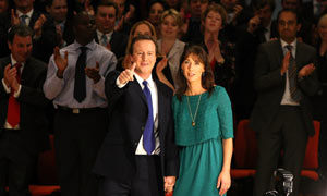 David and Samantha Cameron at the Conservative Party Conference 2008