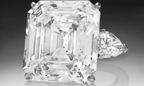 Emerald-cut diamond bought by Leonore Annenberg fetched $7.7m at Christie's auction house.