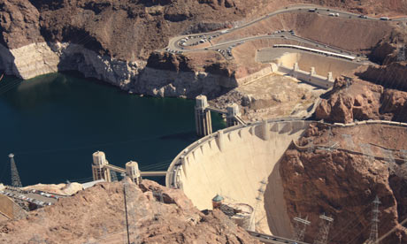 Hoover Dam in Nevada. Photograph: Paul Owen.