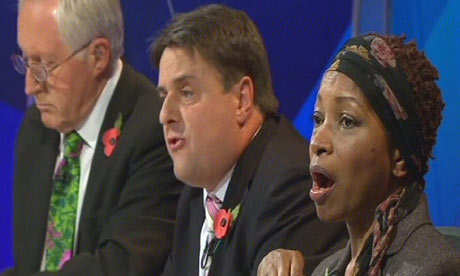 David Dimbleby, Nick Griffin and Bonnie Greer on Question Time