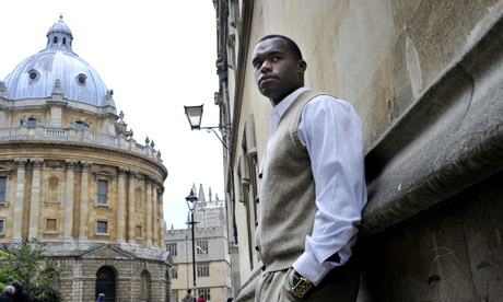 Myron Rolle at the Bodleian Library in Oxford