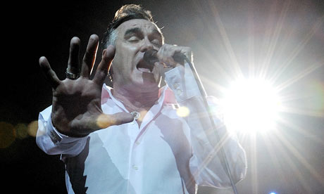 Morrissey in concert at the Brixton Academy