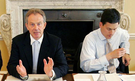 Tony Blair and David Miliband at 10 Downing Street in 2006.