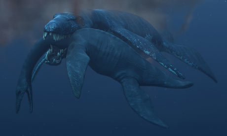 A 45 ton Pliosaur attacking