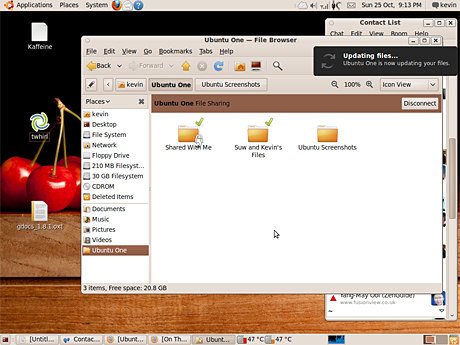Ubuntu One cloud storage on the desktop