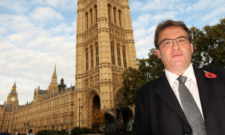 Tony McNulty outside the Houses of Parliament on 29 October 2009.