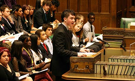 UK Youth Parliament at the House of Commons