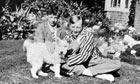 Benjamin Britten (left) in his garden in Lowestoft, Suffolk