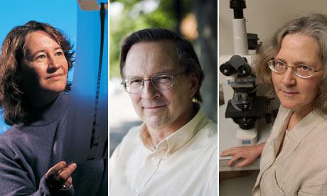 2009 Nobel Prize in medicine : Americans Elisabeth H. Blackburn, Jack W. Szostak and Carol Greider