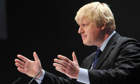 Boris Johnson addresses the Conservative party conference