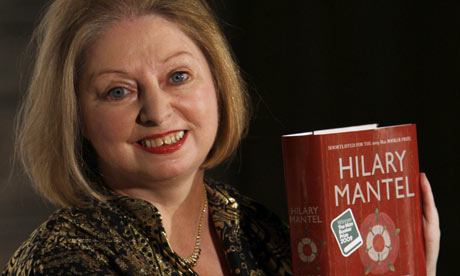 Man Booker Prize 2009: Hilary Mantel poses with her book Wolf Hall