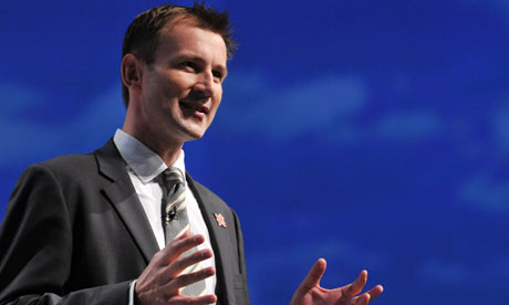 Shadow culture secretary Jeremy Hunt