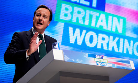 David Cameron at platform