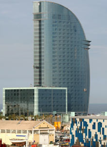 The W Barcelona hotel designed by Ricardo Bofill