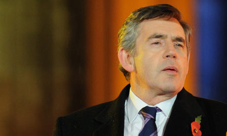 Gordon Brown in Berlin on 9 November 2009.