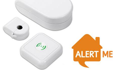 AlertMe energy kit with Oct 09 logo