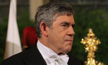 Gordon Brown at the Lord Mayor's Banquet