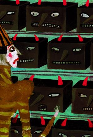 Lucy Mangan illustration