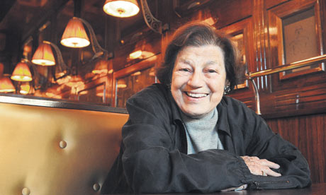 Mavis Gallant at Le Dôme restaurant in Paris