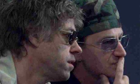 Bono and Bob Geldof in 2001.
