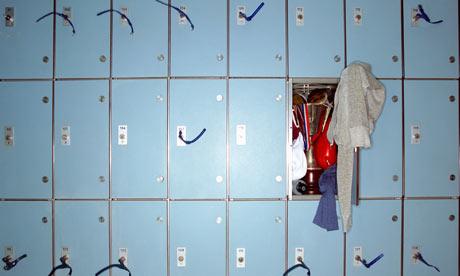 Trophy in messy locker