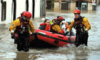 Emergency rescue workers in Cockermouth