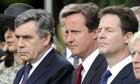 Gordon Brown, David Cameron and Nick Clegg
