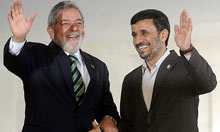 Luis Inácio Lula da Silva and Mahmoud Ahmadinejad in Brasilia
