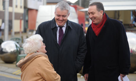 Carwyn Jones campaigns in Ebbw Vale