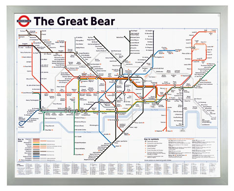 London Underground maps: The Great Bear London Underground map by Simon Patterson