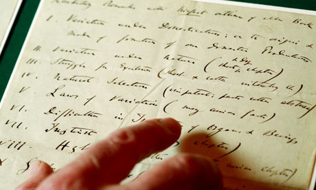 Letter from Charles Darwin to his publisher