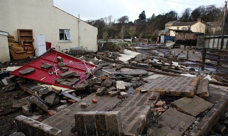 Aftermath of flooding in Cumbria