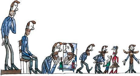 Tim dowling beard illustration