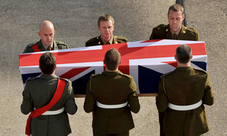 Repatriation ceremony of Staff Sergeant Olaf Schmid, of the Royal Logistic Corps, at RAF Lyneham.